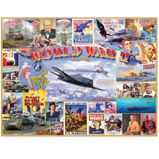 Puzzle 1000 pièces : Seconde guerre mondiale - White-996