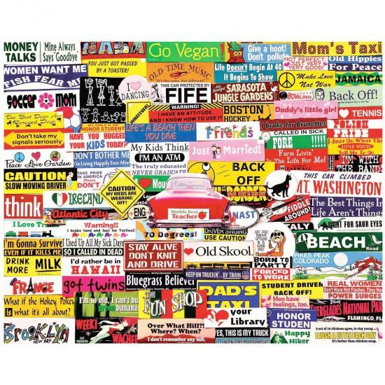 Puzzle 1000 pièces : Stickers pour pare-chocs - White-984