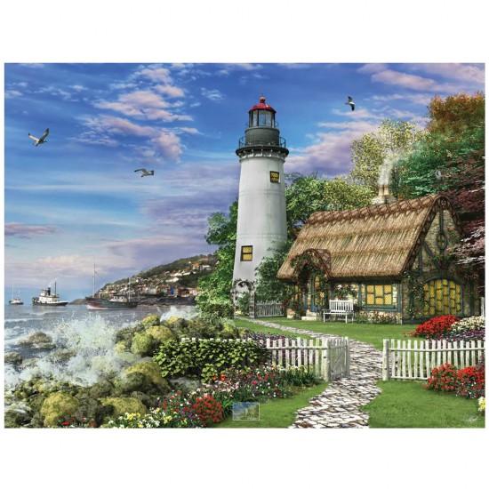 Puzzle 1000 pièces : Un vieux cottage à la mer - White-982