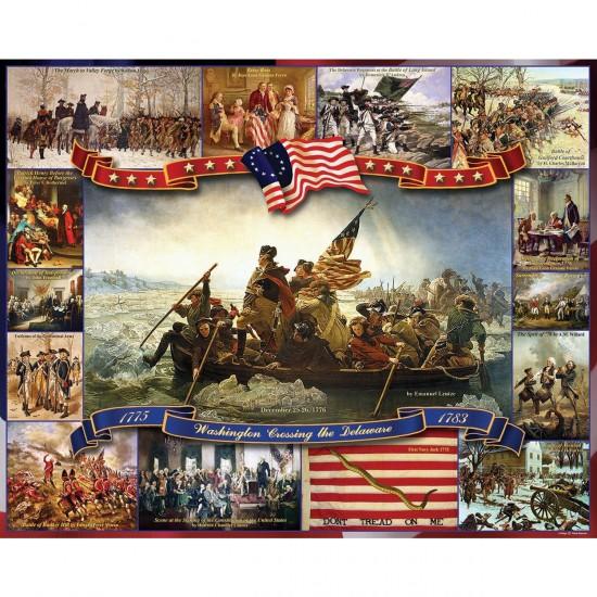 Puzzle 1000 pièces : Washington traversant le Delaware - White-923