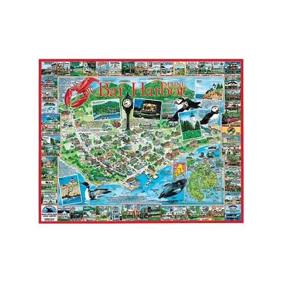 Puzzle 1000 pièces - Bar Harbor, Maine, USA - White-201