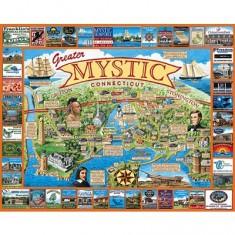 Puzzle 1000 pièces - Connecticut, Nouvelle Angeleterre, USA