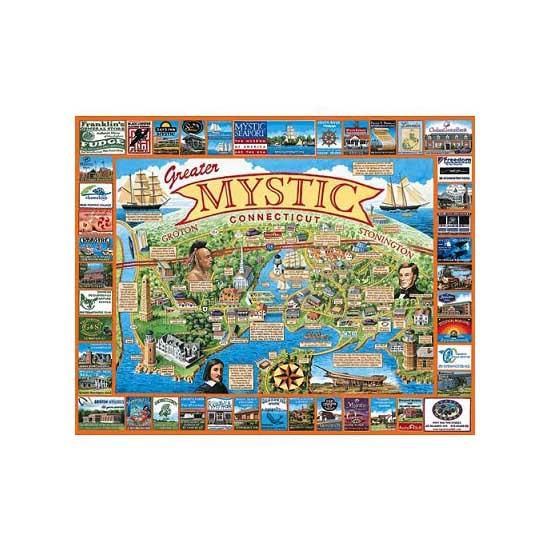 Puzzle 1000 pièces - Connecticut, Nouvelle Angeleterre, USA - White-369
