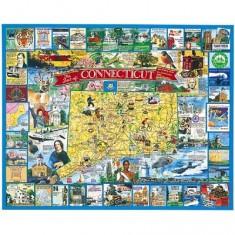 Puzzle 1000 pièces - Connecticut, Nouvelle-Angleterre, USA