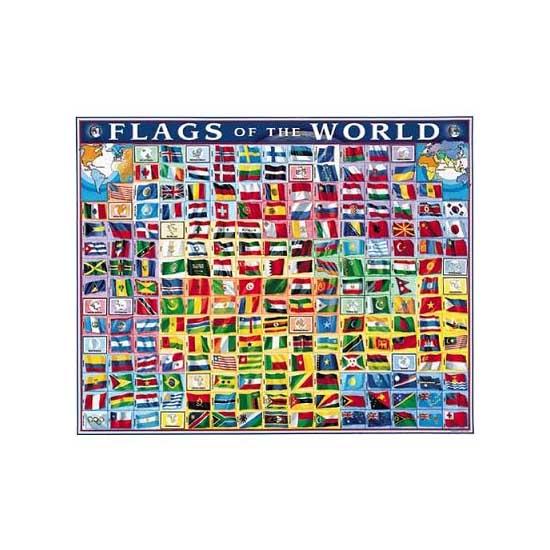 Puzzle 1000 pièces - Drapeaux du monde - White-236