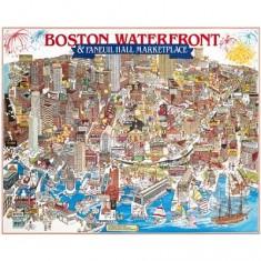 Puzzle 1000 pièces - Front de mer de Boston, Massachussetts