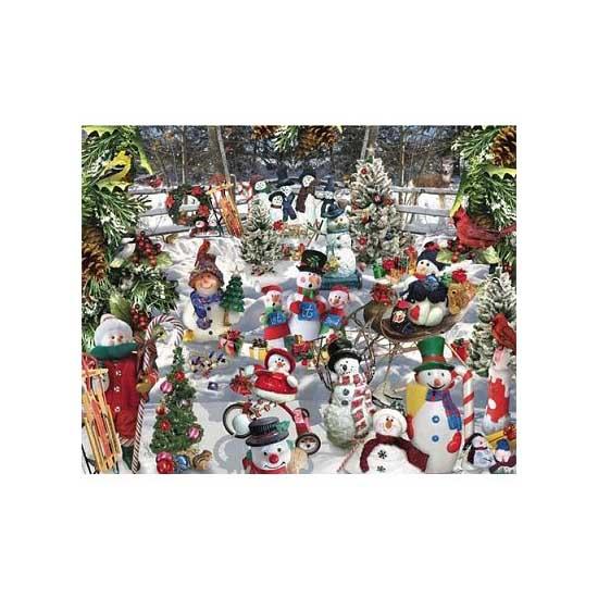 Puzzle 1000 pièces - Les bonhommes de neige - White-564