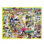 Puzzle 1000 pièces - Les célébrités des Fifties