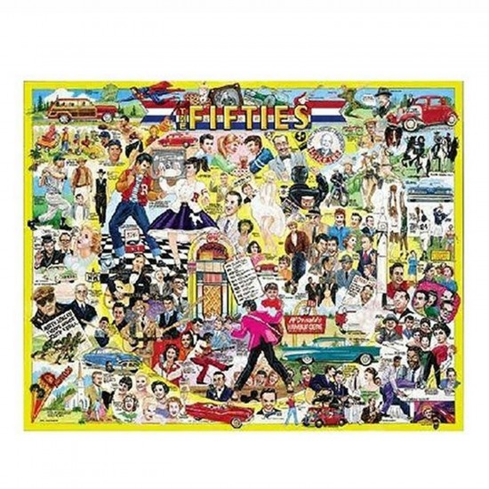 Puzzle 1000 pièces - Les célébrités des Fifties - White-196