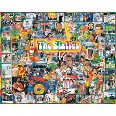 Puzzle 1000 pièces - Les célébrités des Sixties