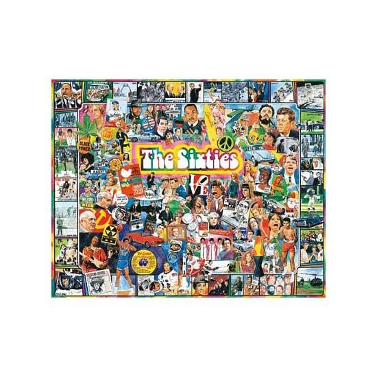 Puzzle 1000 pièces - Les célébrités des Sixties - White-305