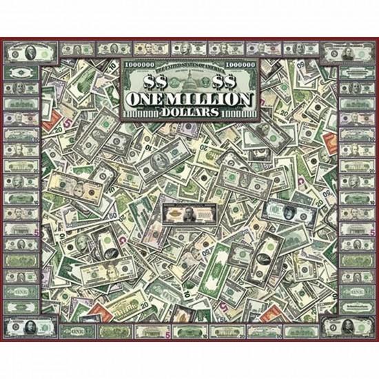 Puzzle 1000 pièces - Les dollars - White-689