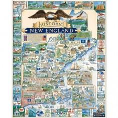 Puzzle 1000 pièces - L'histoire de la Nouvelle Angleterre, USA