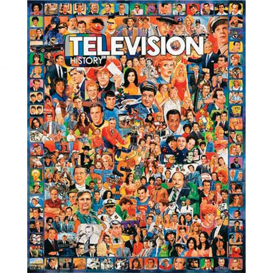 Puzzle 1000 pièces - L'histoire de la télévision - White-270