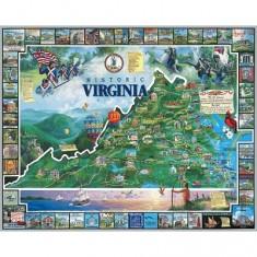 Puzzle 1000 pièces - L'histoire de la Virginie, USA