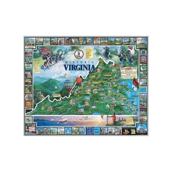 Puzzle 1000 pièces - L'histoire de la Virginie, USA - White-081