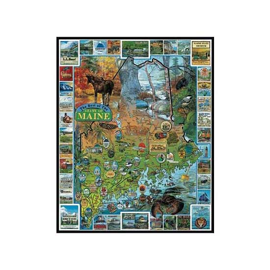 Puzzle 1000 pièces - Maine, Nouvelle-Angleterre, USA - White-094