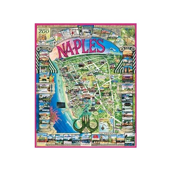 Puzzle 1000 pièces - Naples, Floride, USA - White-050