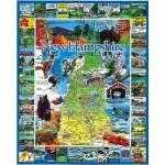 Puzzle 1000 pièces - New Hampshire, Nouvelle-Angleterre, USA