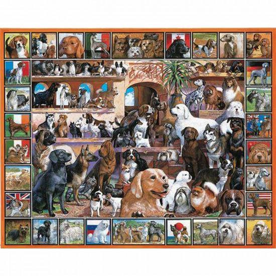 puzzle 1000 pi ces p le m le de chiens puzzle white mountain puzzles rue des puzzles. Black Bedroom Furniture Sets. Home Design Ideas