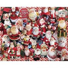 Puzzle 1000 pièces - Pères Noël en folie