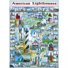 Puzzle 1000 pièces - Phares américains
