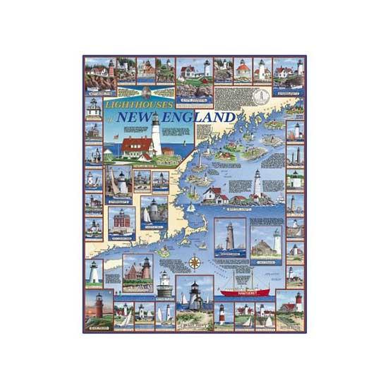 Puzzle 1000 pièces - Phares de Nouvelle Angleterre - White-481