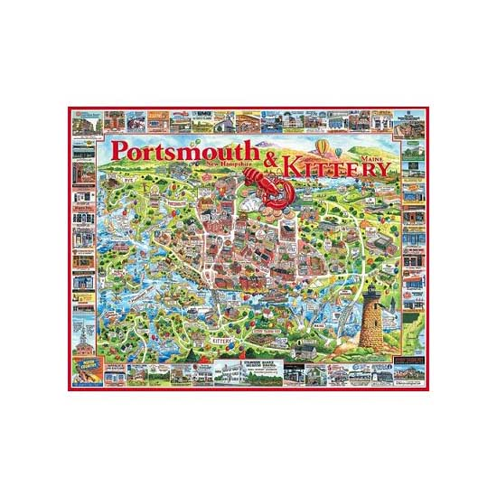 Puzzle 1000 pièces - Portsmouth, New Hampshire, USA - White-363