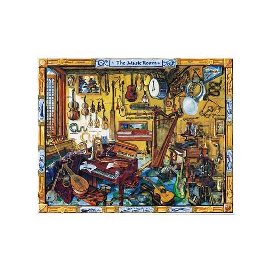 Puzzle 1000 pièces - Salle de musique - White-171