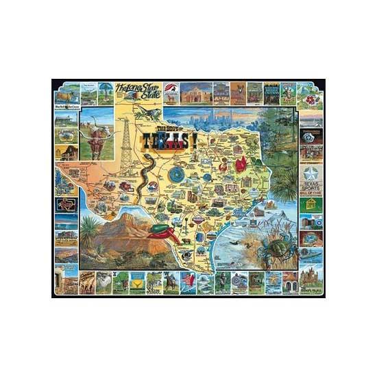 Puzzle 1000 pièces - Texas, USA - White-090