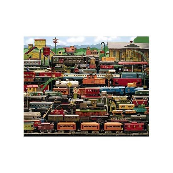 Puzzle 1000 pièces - Trains au départ - White-629