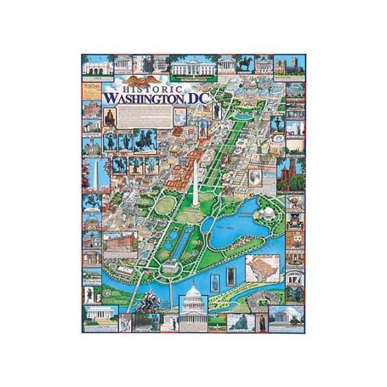 Puzzle 1000 pièces - Washington, District de Columbia, USA - White-220