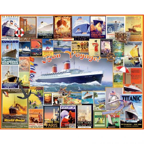 Puzzle 550 pièces : Bon voyage - White-1010