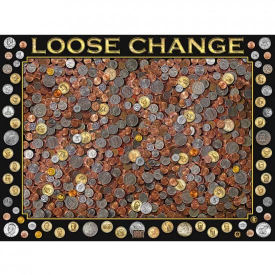Puzzle 550 pièces : Pièces de monnaie - White-840