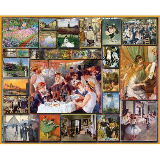 Puzzles 1000 pièces : Great Painters : Les Impressionnistes - White-901