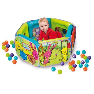 Aire à balles gonflable : 100 balles - Wondermaman-WMA7031