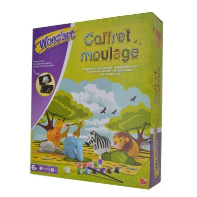 moulage en pl tre coffret moulage animaux de la jungle wooz art magasin de jouets pour enfants. Black Bedroom Furniture Sets. Home Design Ideas