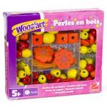 Perles en bois : Perles jaunes et oranges