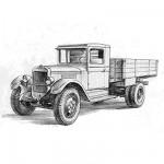 Maquette Camion soviétique ZIS-5