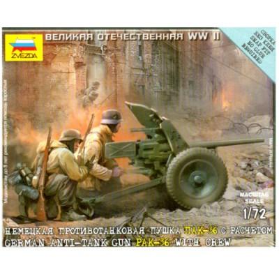 Maquette Canon allemand PAK-36 anti-char avec figurines  - Zvezda-6114