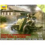 Maquette Canon soviétique 35 mm anti-char avec figurines