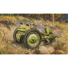 Maquette canon soviétique 76mm avec figurines