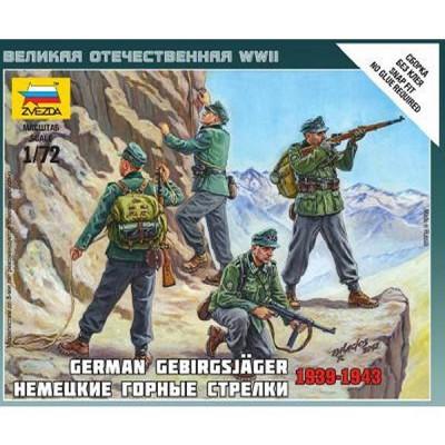 Figurines 2ème Guerre Mondiale : Chasseurs alpins allemands - Zvezda-6154