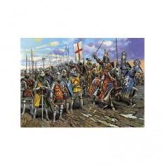 Figurines médiévales: Chevaliers anglais Guerre de 100 Ans