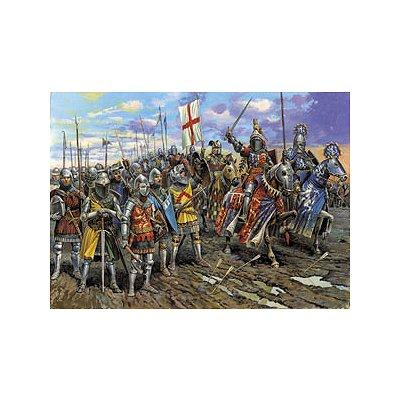 Figurines médiévales: Chevaliers anglais Guerre de 100 Ans - Zvezda-8044