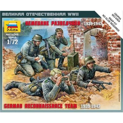 Figurines 2ème Guerre Mondiale : Escouade de reconnaissance allemande 1939-1942 - Zvezda-6153