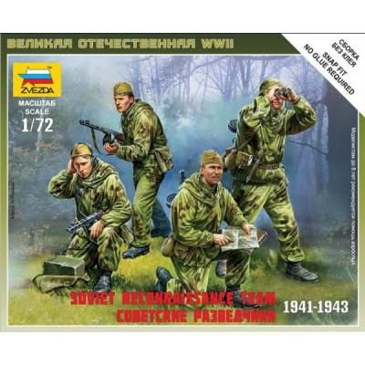 Figurines 2ème Guerre Mondiale : Escouade de reconnaissance soviétique - Zvezda-6137