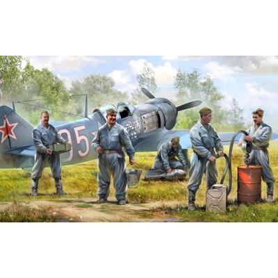 Figurines : Mécaniciens d'Aviation Soviétique - Zvezda-6187