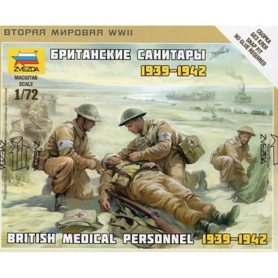 Figurines 2ème Guerre Mondiale : Infirmiers Britanniques 1939-1942 - Zvezda-Z6228