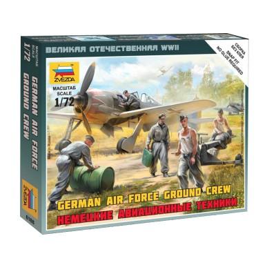 Figurines 2ème Guerre Mondiale : Mécaniciens d'aviation allemands - Zvezda-Z6188